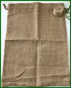 Eco-Friendly Durable Jute Drawstring Coffee Bag pictures & photos