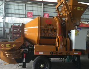 Portable Cement Drum Mixer with Pump