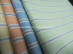 Linen Cotton Yarn Dyed Cross Weaved Stripe for Shirt Fabric pictures & photos