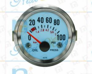 """2"""" 52mm 0-100 Oil Pressure Gauge with Cold Light pictures & photos"""