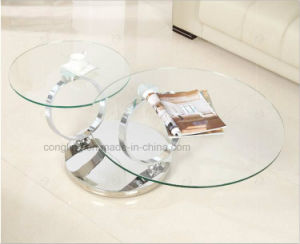 Rotating Glass Top Multifunction Coffee Table