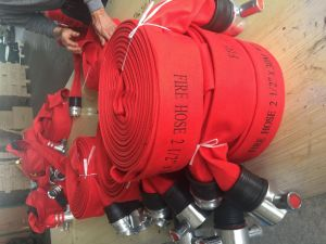 Red Canvas Fire Hydrant Hose, Farm Irrigation Hoses Used pictures & photos