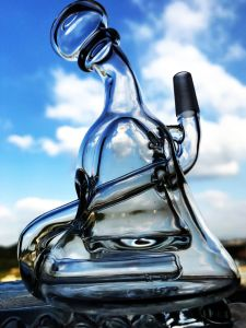 Wholesale 6 Inch Inline Recycler Glass Water Pipe pictures & photos