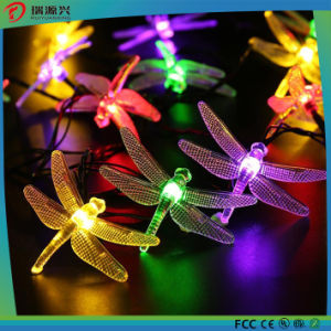 Multi-Color Energy-Saving Solar LED String Light with Dragonfly pictures & photos