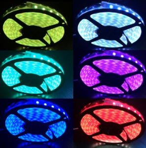 UL Listed 5050 Color Changing LED Strips, 60LEDs/M pictures & photos