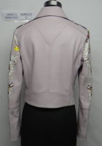 Ladies′ Printed Real Leather Jacket, Clothing pictures & photos