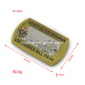 Vertical Swordsman Uss Bunker Hill Challenge Coin pictures & photos