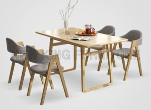 Fashion Rectangle Wooden Dining Table for Restaurant Cafe (NK-DTB090)