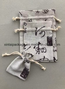 Factory Wholesale Linen with China Feature Drawstring Pouch pictures & photos
