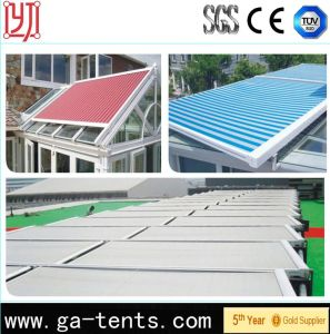 Sun Shade Aluminum Track Retractable Roof Awnings pictures & photos