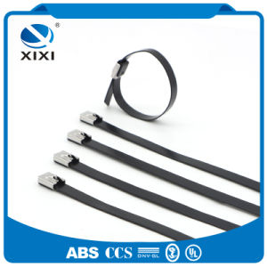 Heat Resistant PVC Coated Ss Zip Ties pictures & photos