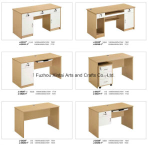 Chinese Simple Elegant Wood with White Office Table Design