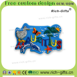 Home Decoration Customized Gifts PVC Fridge Magnets Souvenir Mauritius (RC- MU)