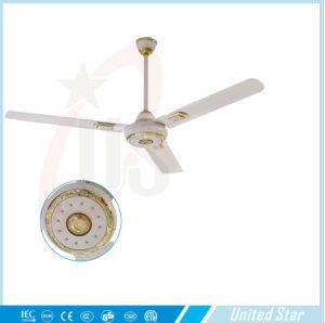 56′′celling Fan Solar DC Fan Large Room Cooling Fan Five Speed Regulator pictures & photos