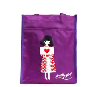 Purple Girl Logo Printing Nylon Artical Bag