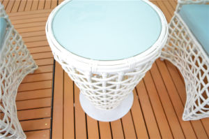 Europe Type Handmade Rattan Cafe Chairs and Coffee Table pictures & photos