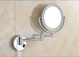 Extendable LED Light Stainless Steel Bathroom Wall Decorative Mirror (Q65) pictures & photos