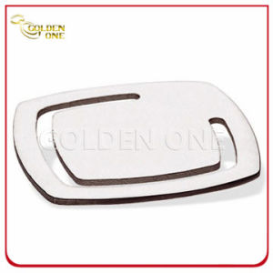 Fine Design Square Shape Nickel Plated Metal Bookmark pictures & photos