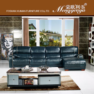 Electric Recliner Leather Sofa (638#)