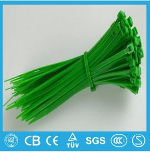 Black Releasable Plastic and Nylon Cable Tie pictures & photos