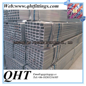 Zinc Galvanaized Gi Pipe Carbon Steel Square Steel Tube pictures & photos