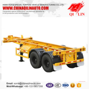 20FT Truck Skeleton Container Semi Trailer pictures & photos