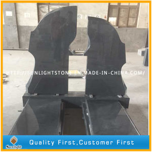 Cheap Dark Grey G654 Granite Flower Bed Tombstone / Gravestone pictures & photos