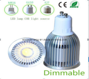 Ce and Rhos Dimmable GU10 9W COB LED Light pictures & photos