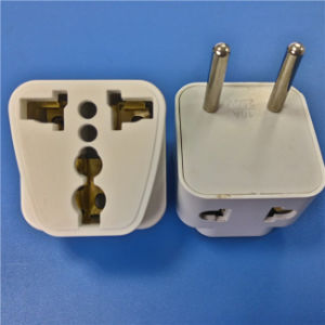 Two Round Pins Plug to Multi Fuction Adaptor (RJ-0063-1) pictures & photos