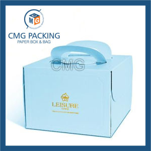 Eco-Friendly Full Color Printed Die-Cutting Handle Cake Box (CMG-cake box-007) pictures & photos