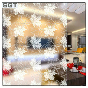 10mm 15mm 19mm Ecid Etched/Frosting Patterned Glass for Kitchen Partition pictures & photos