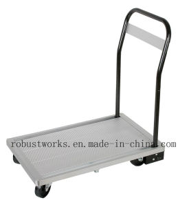 Aluminium Platform Hand Trolley (HT041-1) pictures & photos