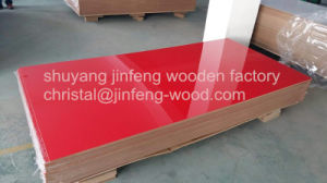 1220*2440mm Red Color High Gloss UV MDF pictures & photos