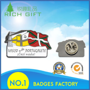 Customized Laser Engraving Badge with Butterfly Clutch on Back pictures & photos