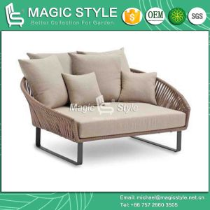 Daybed Tie Sofa Sun Bed Balcony Daybed Double Sofa Garden Furniture Bandage Sofa Patio Daybed (Magic Style) pictures & photos