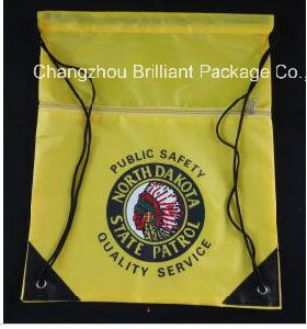 420d Polyester Promotion Drawstrings Bag with Zipper pictures & photos