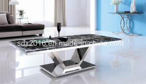 Marble stainless Steel Frame Coffee Table Living Room Design pictures & photos