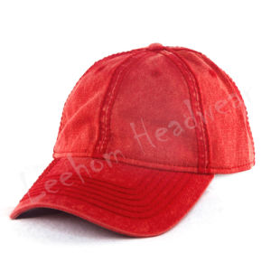 Custom Heavy Washed Plain Baseball Cap pictures & photos