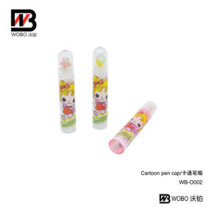 Color Cartoon Pen Cap for School Stationery