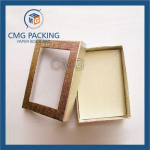 Golden Transparent Window Necklace Paper Box (CMG-PJB-081) pictures & photos