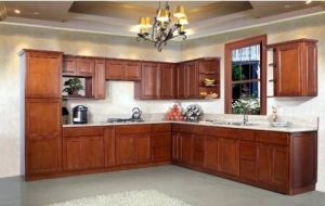 American Style Cherry Kitchen Cabinet (c11) pictures & photos