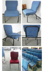 Modern Blue Fabric Padded Church Chairs Used for Sale pictures & photos