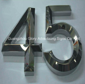 Number Sign with LED Light up Letter Sign pictures & photos