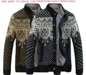 Men′s Knitted Cardigan Sweater (MY021) pictures & photos