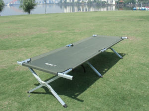 Aluminum Camping Bed (M) with Side Pocket pictures & photos