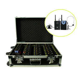 Professional Wireless Tour Guide System Charging Case (X PC Transmitter+X PC Receivers+Charge Box for 30 PC) pictures & photos