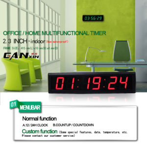 [Ganxin] 6digit 7segment Indoor Wall Clock LED Table Clock