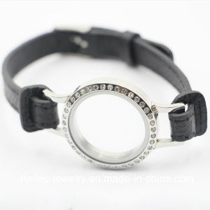 Custom Stainless Steel Fashion Leather Bracelet Jewelry pictures & photos