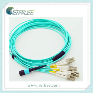 Multimode MPO-LC Fiber Optic Patch Cord Cable pictures & photos