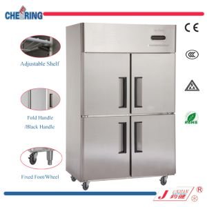 Cheering 1020L Refrigeration Equipment Fan Cooling 4 Door Commercial Upright Freezer for Kitchen with Ce Approval in Guangzhou pictures & photos